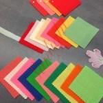 LCCSカラー診断でお渡しする似合う色のカラーサンプル